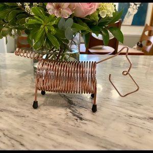 MCM accordion scottie dog mail holder
